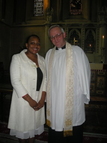 With St John's superb Reverend Raymond Draper after my confirmation