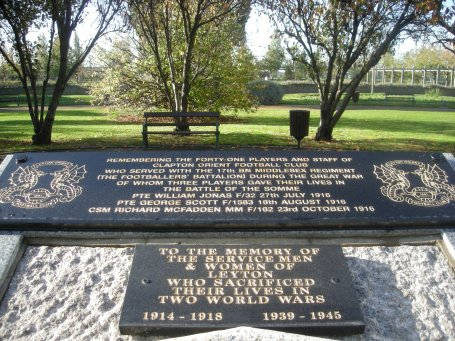 Leyton Orient Football Club War Memorial Tribute