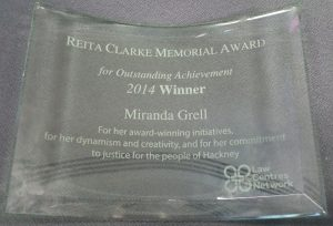 My Rita Clarke Memorial Award 2014 gimp